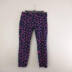 H&M crop pants blue pink size 10